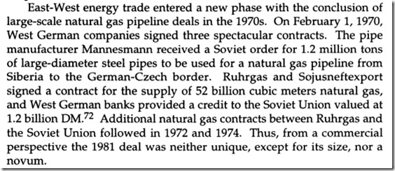 Gass og gassrøravtale Sovjet Vesttyskland