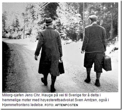 Hauge på vei til Arntzen