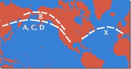 Kartet til USA med haplogruppe x