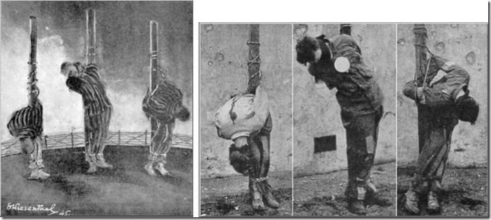 Begge bilder av de henrettede tyskerne