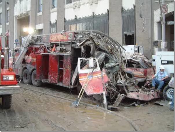 Brannbil smeltet stige 11. september 2001 World Trade Center