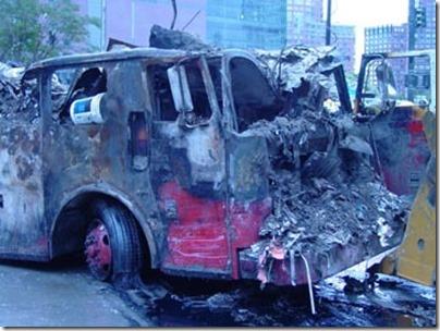 Brannbil uten motor 11. september 2001 World Trade Center