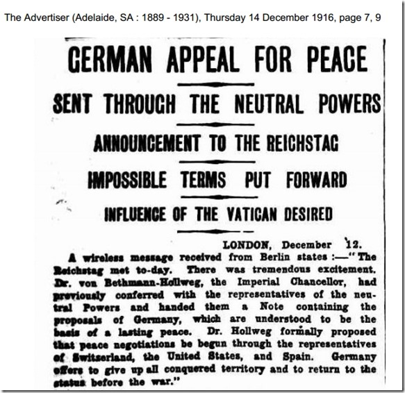 Fredstilbud 1916