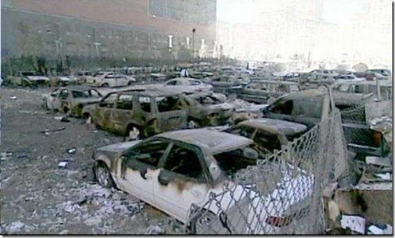 Hauger av ødelagte biler 11. september 2001 World Trade Center