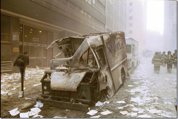Postbil 100 church street 890 11. september 2001 World Trade Center