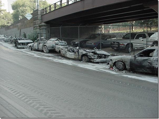Stekte og hele biler 11. september 2001 World Trade Center