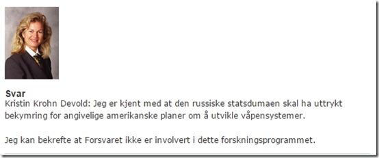 Stortinget om HAARP 2