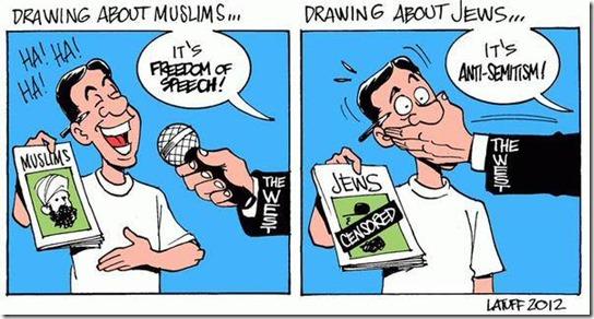 Askenasi-khazarer og muslimer karikatur
