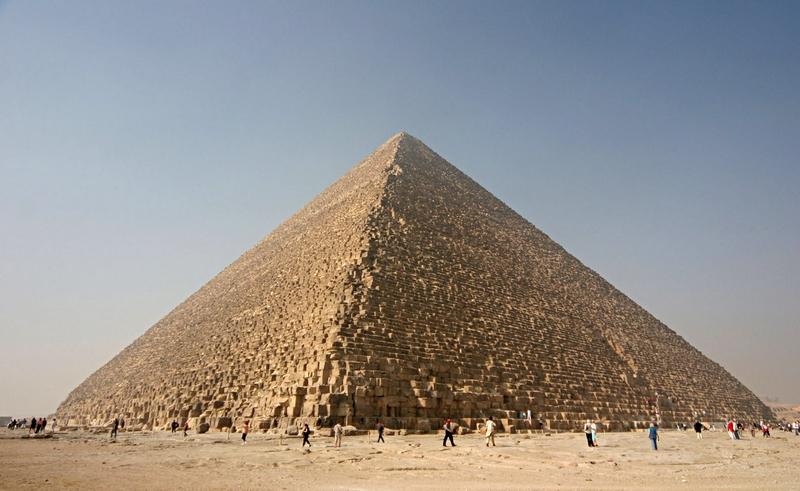 Den store pyramiden i Giza Foto: Wikipedia