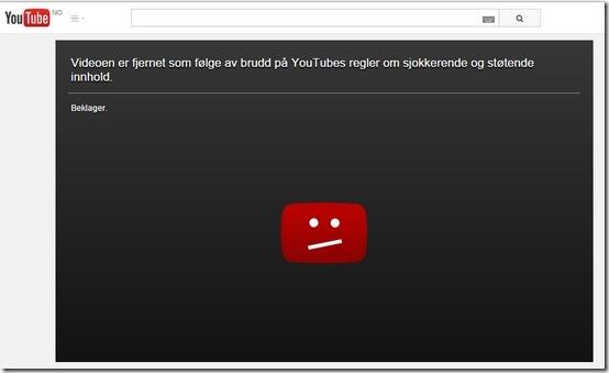 Youtubes slettede film fra Paris