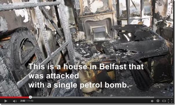 Brann etter bensinbombe