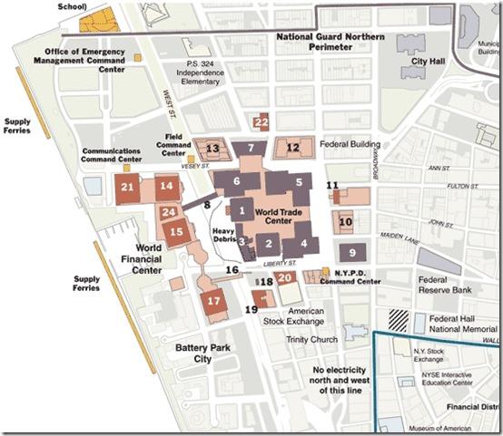 Kart og WTC og WFC 2001