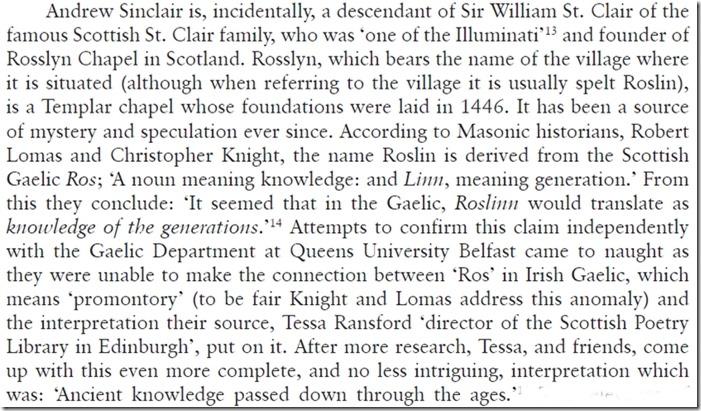 Navneforklaring av Rosslyn Chapel