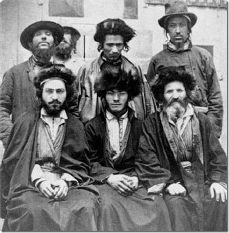 Østeuropeiske askenasikhazarer ca. 1876