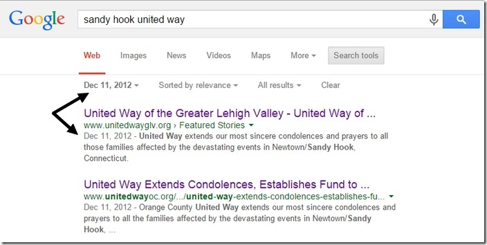 Google United Way 11. desember 2012