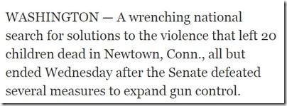 New York Times om våpenkontroll