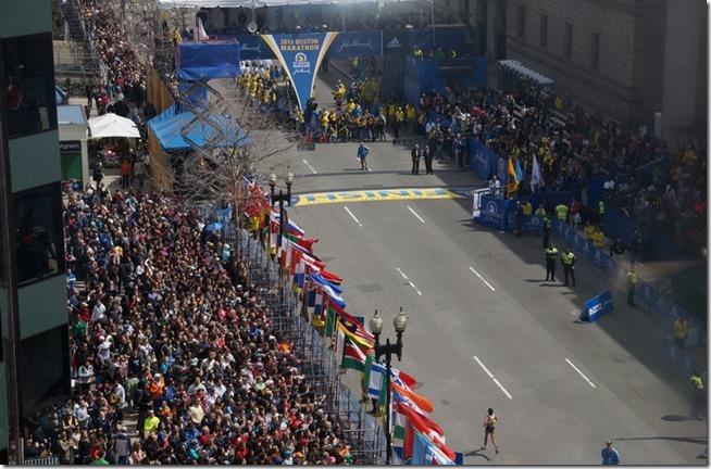 Tilskuere i målområdet Boston maraton