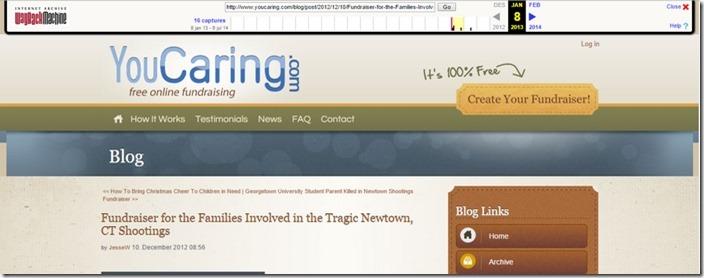YouCaring Fundraising 10. desember 2012 1