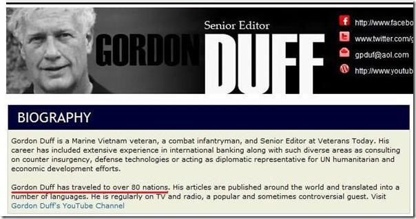 Gordon Duff-biografi 8
