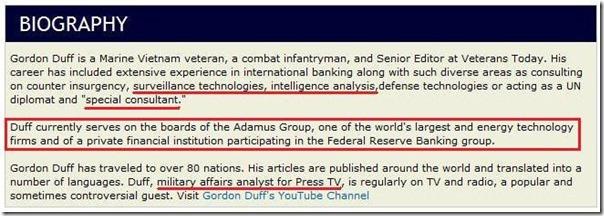 Gordon Duff-biografi 9