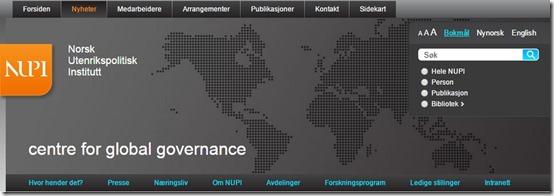 NUPI - globaliseringssenteret