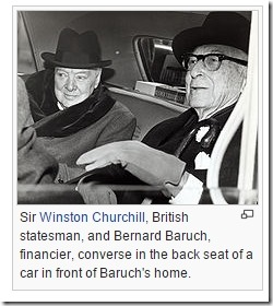 Bernard Baruch og Winston Churchill