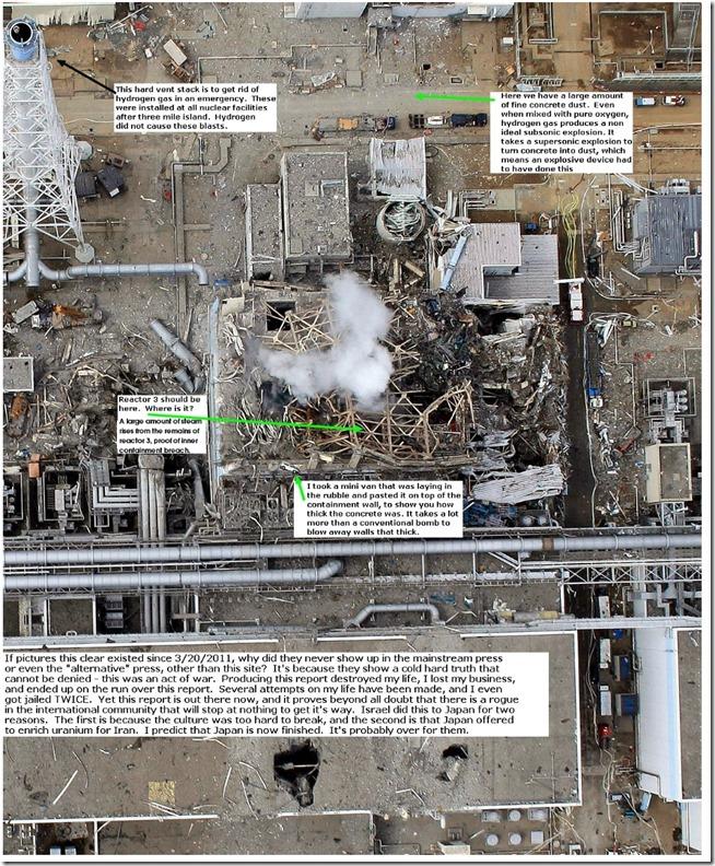 Fukushimaanleggets ødeleggelser