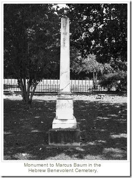 Marcus Baums grav med obelisk