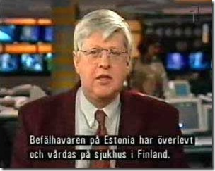 Skjermdump om kapteinen på Estonia på Dagens Nyheter SVT