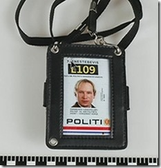 ABB falskt politi-identitetskort