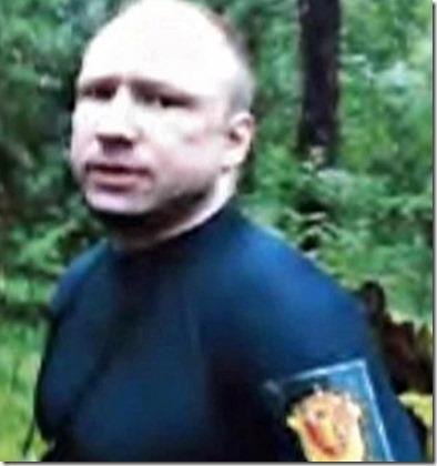 Breivik blir pågrepet