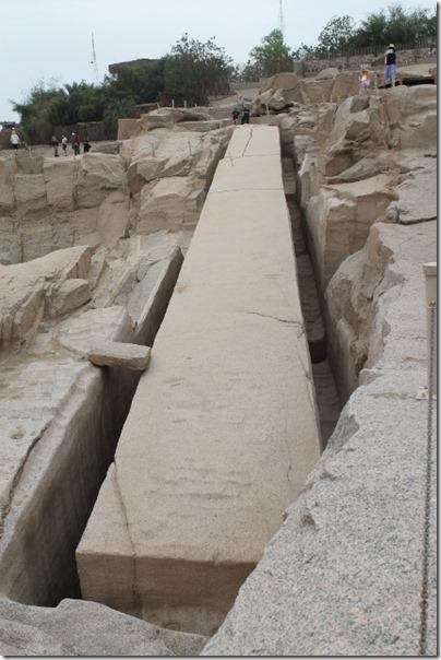 Forkastet obelisk i stienbruddet i Asvan