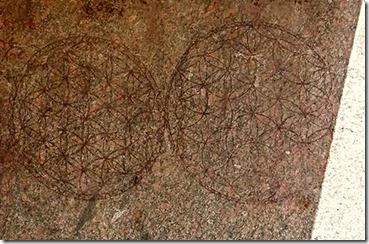 Livets blomst på Luxor-granitt