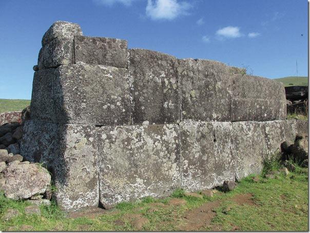 Megalittisk steinmur på Påskeøya