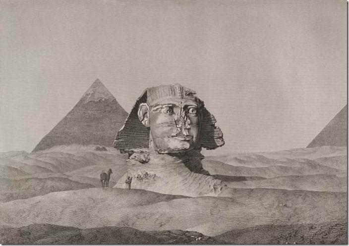 Sfinksen delvis begravd 3