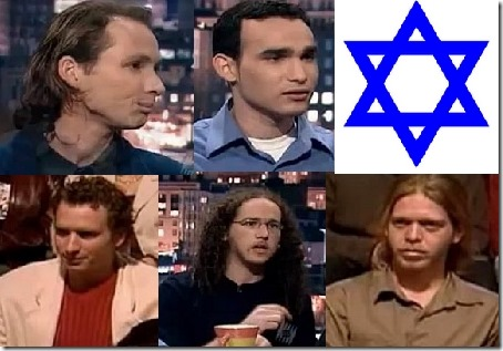 De fem dansende israelerne