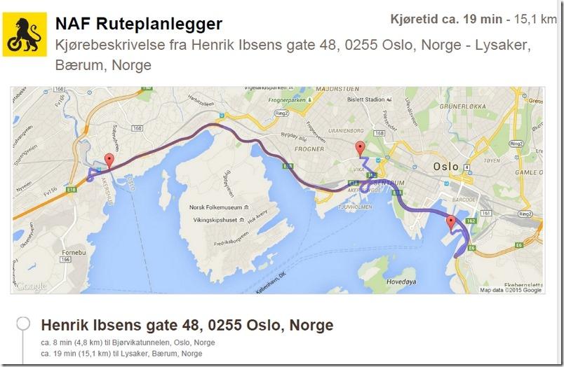 Fra ambassaden via Bjørkvika til Lysaker