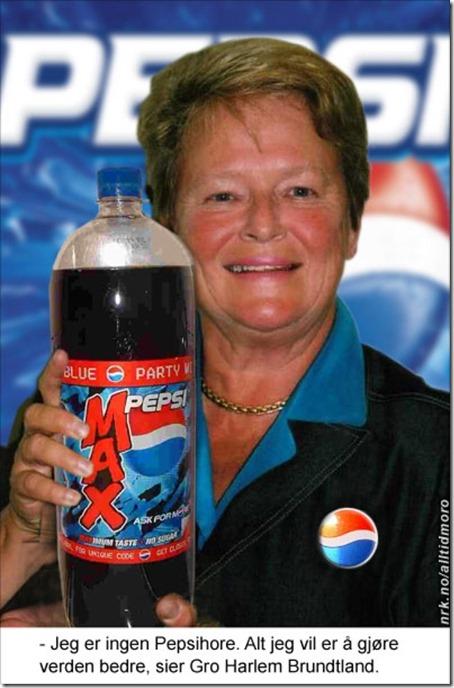 Gro Harlem Brundtland som Pepsi-hore
