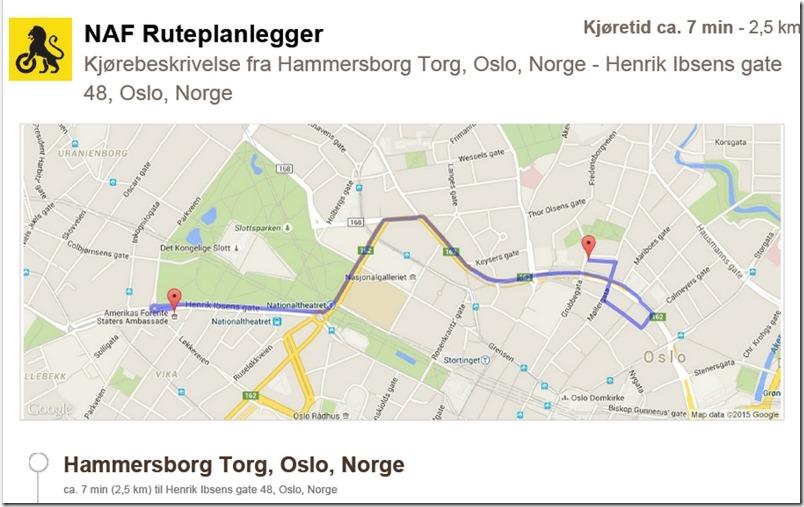Hammersborg torg til amassaden