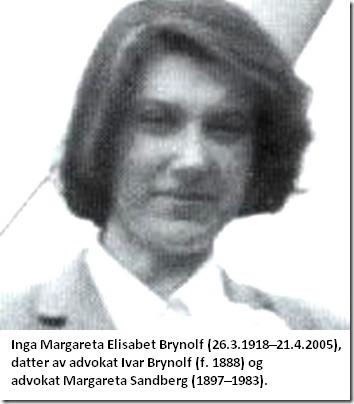 Margareta Brynolf Sandberg - Gro Harlem Brundtlands mor