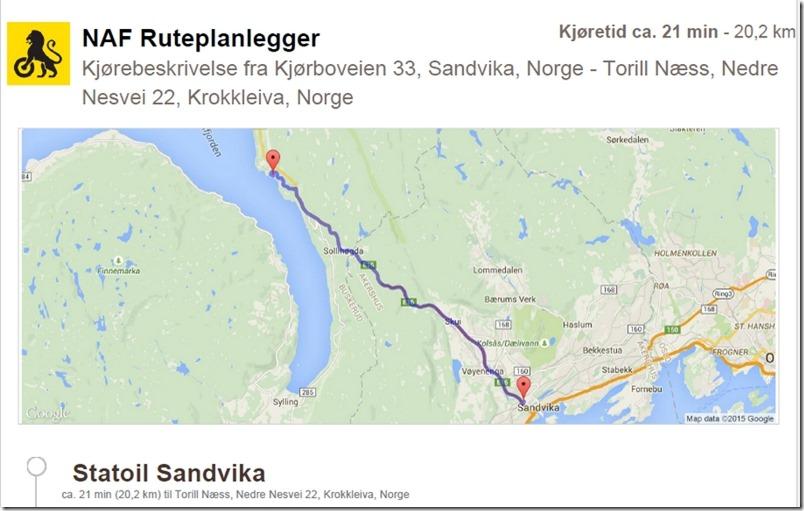 Sandvika til Næss Camping