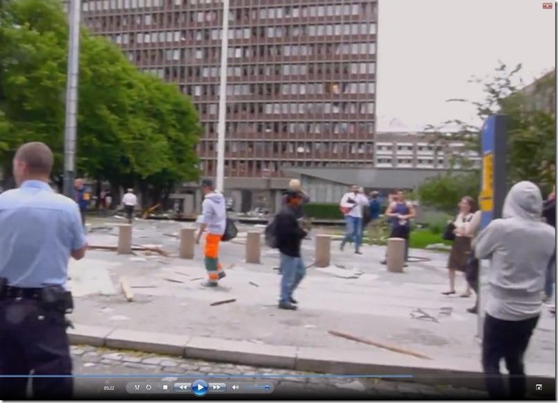 Sixpence-mannen snur ryggen til kameraet