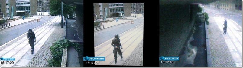 Overvåkningsbildene fra enden av Y-blokka