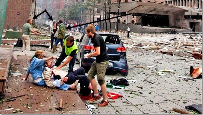 Litt dokumentasjon om hendelser i og rundt regjeringskvartalet den 22. juli 2011