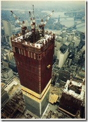 Bilder fra byggingen av World Trade Towers 14