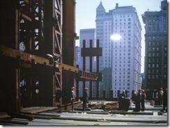 Bilder fra byggingen av World Trade Towers 23