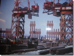 Bilder fra byggingen av World Trade Towers 24