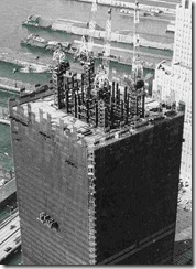 Bilder fra byggingen av World Trade Towers 38