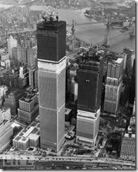 Bilder fra byggingen av World Trade Towers 3