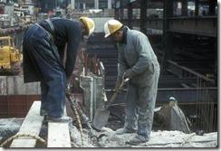Bilder fra byggingen av World Trade Towers 42